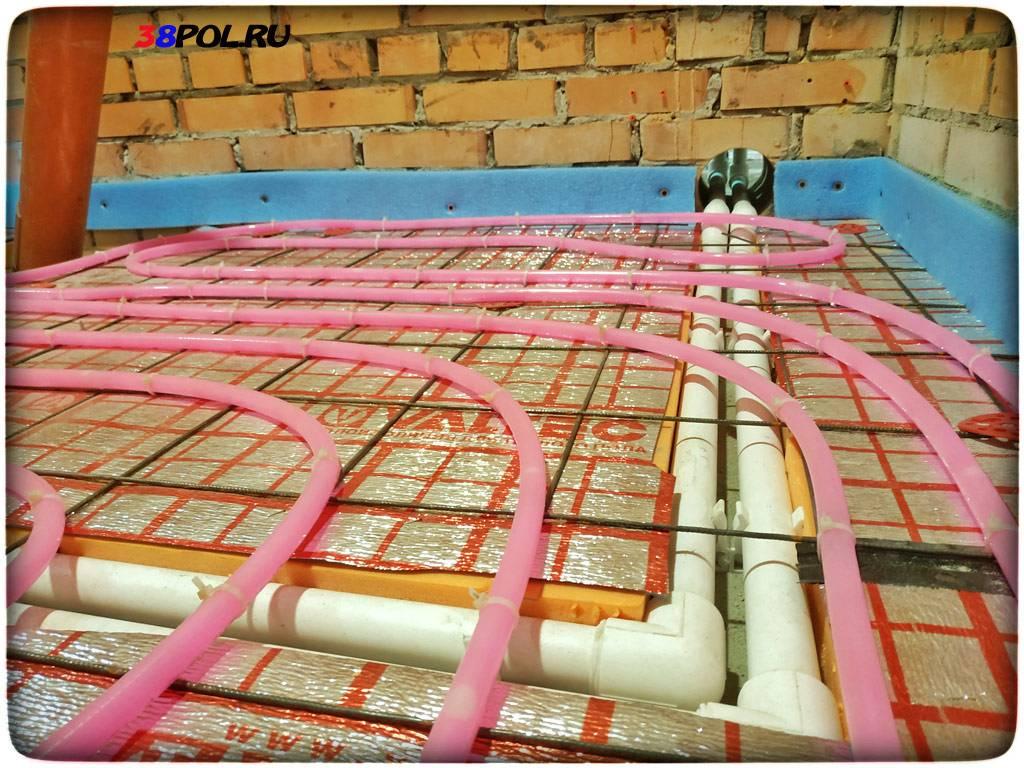 Теплые водяные полы: схема монтажа и установка