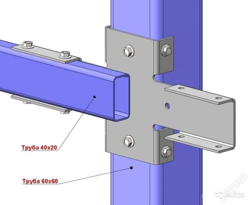 Крепление сетки рабицы к металлическим столбам: к профильной трубе без сварки