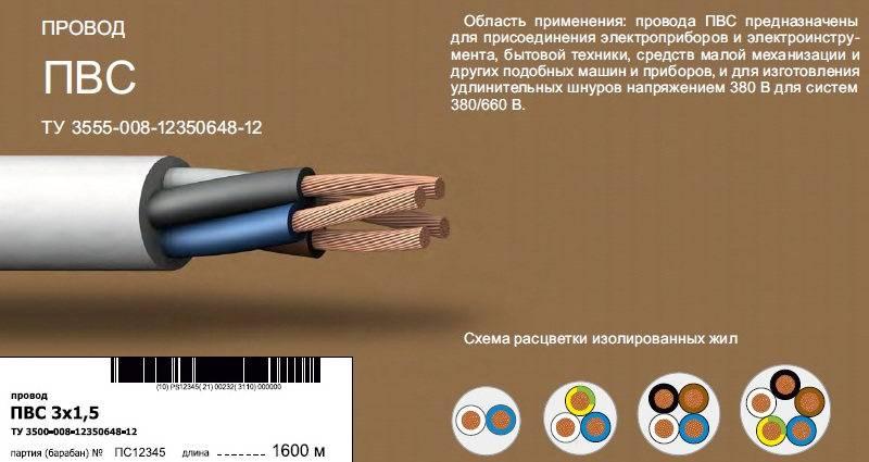 Расшифровка маркировки и применение провода ПУГНП