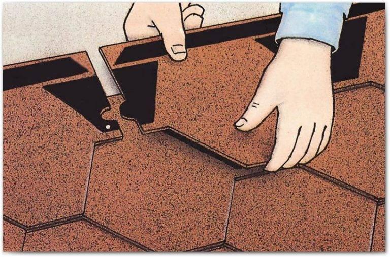 Монтаж гибкой черепицы: как самому построить дом с применением битумного материала ruflex, технология укладки мягкой кровли, подробная инструкция