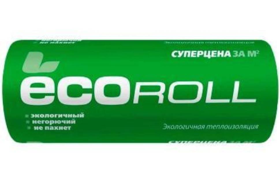 Утеплитель экоролл рулон 6800x1220x50 мм (16,6 кв. м)