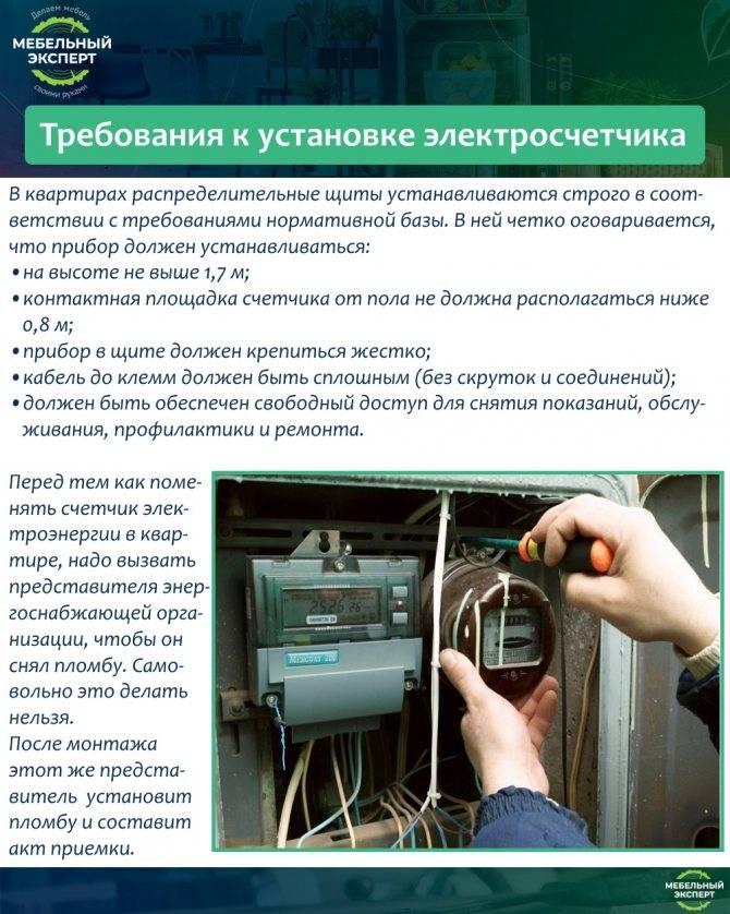 Замена счетчика в мосэнергосбыт