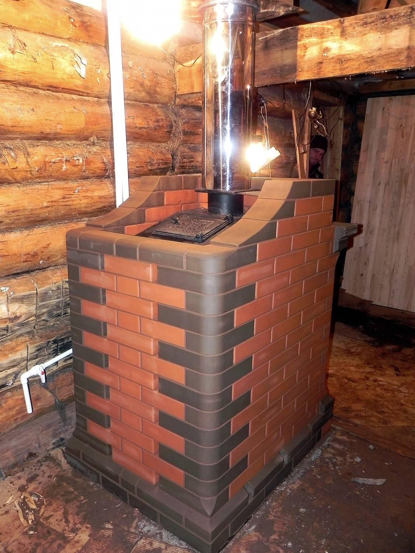 Как обложить печь в бане, схема обкладки печи в бане кирпичом (13 фото)