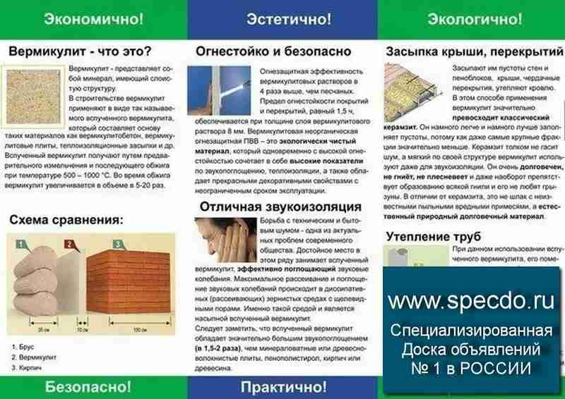 Вермикулитовые плиты для утепления стен: характеристики и особенности материала