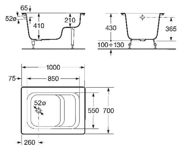 Размеры ванной чугунной - все о канализации