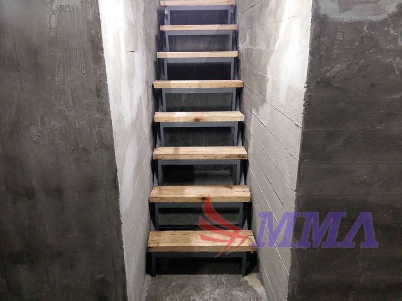 Как сделать лестницу в подвал - материалы, варианты конструкции, пошаговое руководство + фото