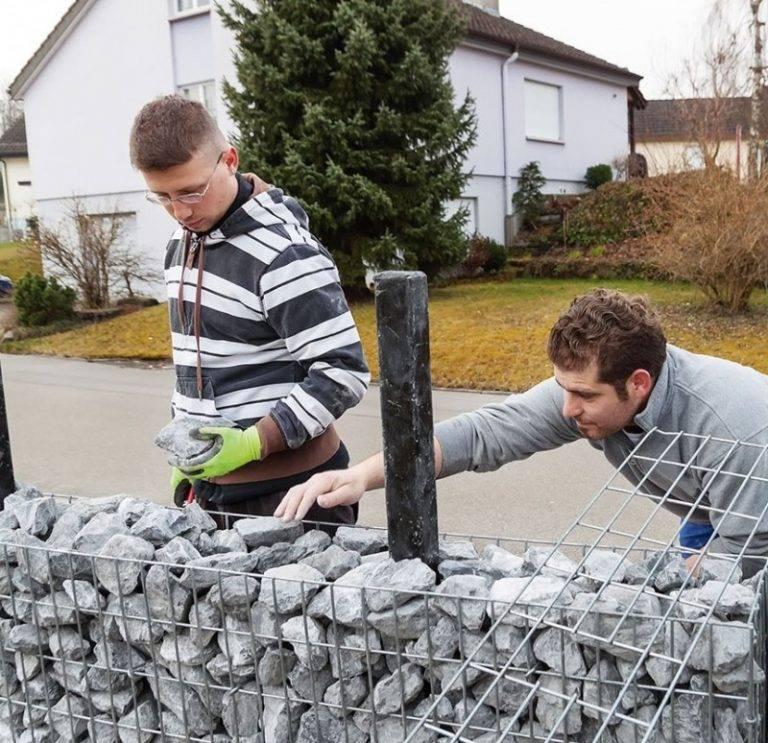 Постройте своими руками каменный забор на века