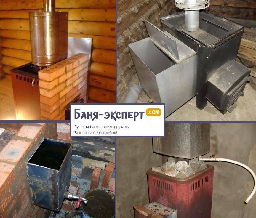 Схемы конструкций печей для бани, описание устройства печей