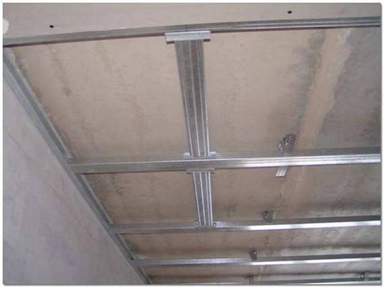 Каркас на потолок под гипсокартон: инструкция по монтажу
