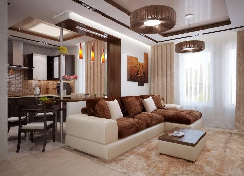 Интерьер кухни-гостиной (65 фото): дизайн совмещенных столовой и зала в квартире, красивые обои в соединенных комнатах в коттедже