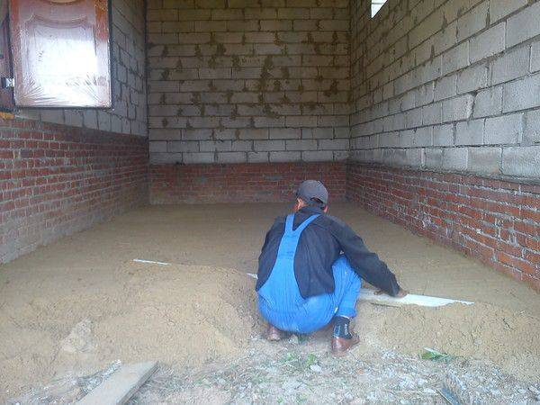 Бетонный пол в гараже - подробная пошаговая инструкция!