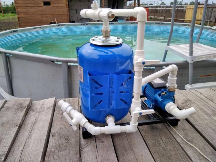 Как сделать фильтрацию воды в бассейне своими руками