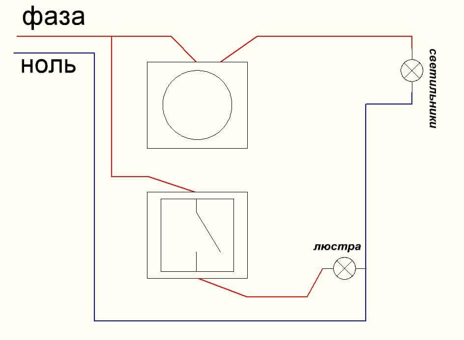 Схема подключения диммера с выключателем - всё о электрике