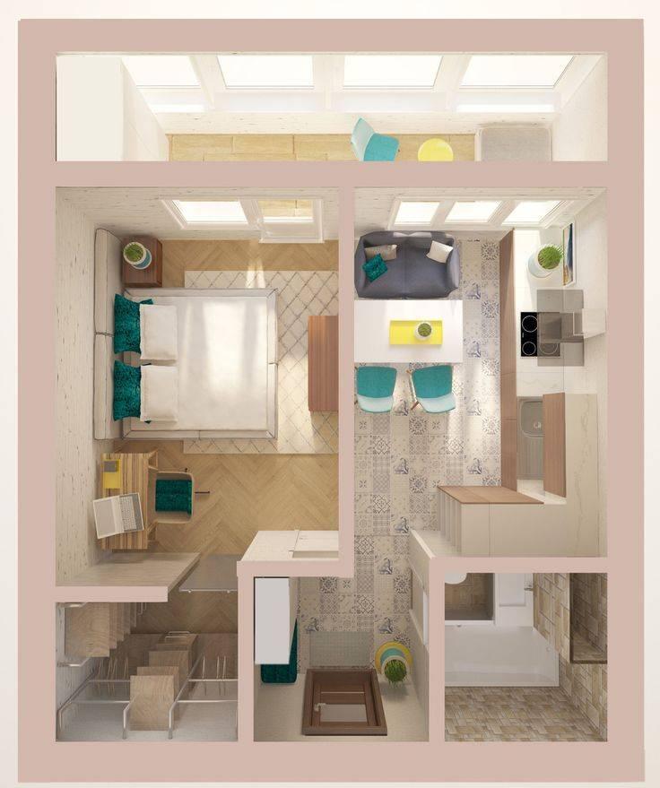 Способы перепланировки двухкомнатной квартиры