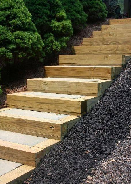 Как сделать лестницу на склоне: 7 простых вариантов, пошаговые рекомендации, фото - каталог статей на сайте - домстрой