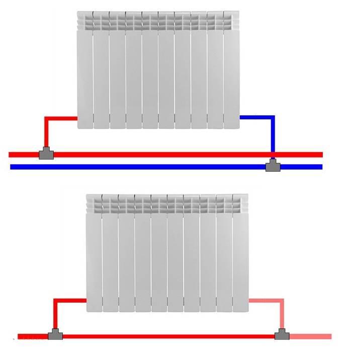 Как правильно подключить радиатор отопления при двухтрубной системе