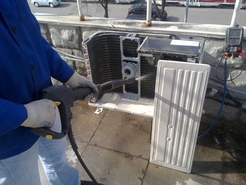 Почистить сплит систему самому: регулярность, инструкция по чистке внутреннего и внешнего блока, теплообменника