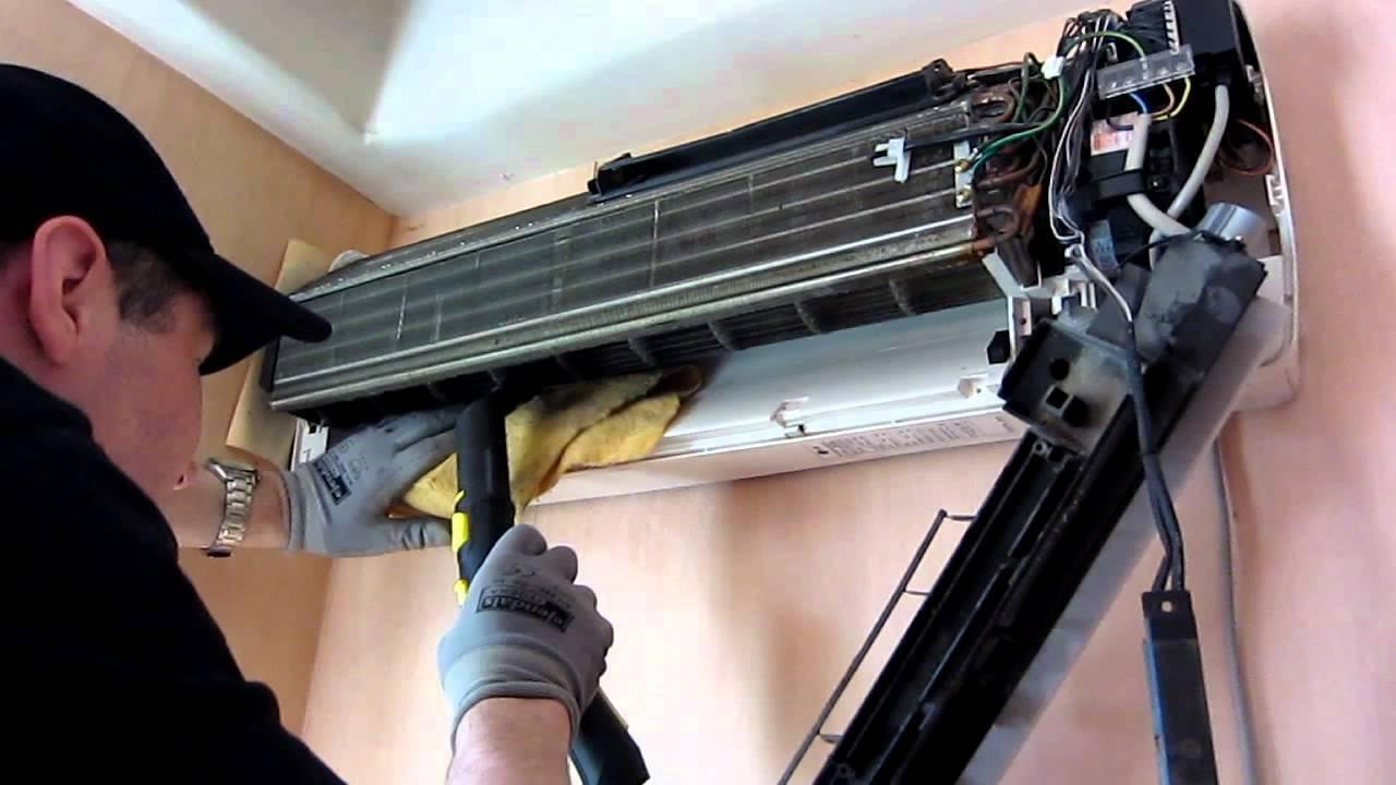 Как почистить кондиционер дома самостоятельно (в том числе если появился запах) + видео