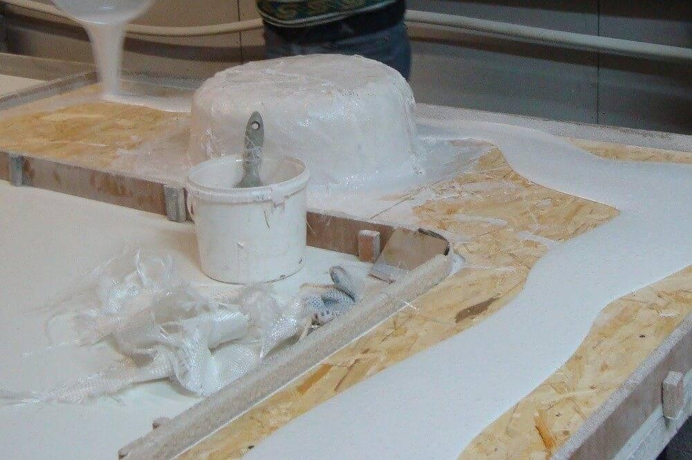 Столешница из акрилового камня для кухни: изготовление столешниц своими руками