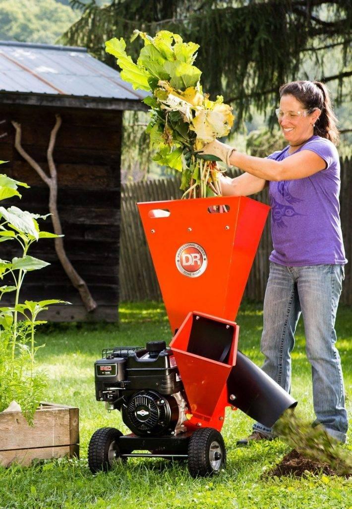 Электрические и бензиновые садовые измельчители веток
