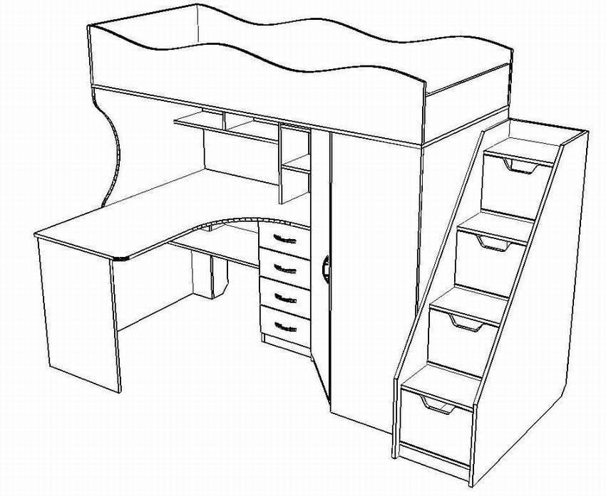 (+65 фото) кровать чердак в интерьере разных комнат 65 фото