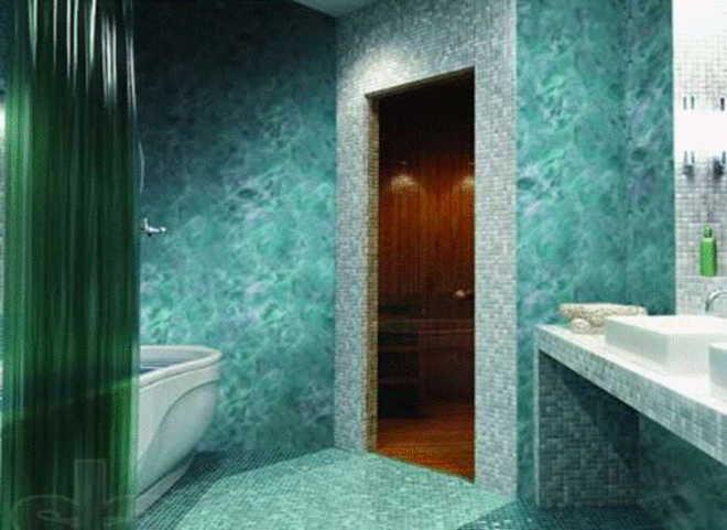 Cтеклообои для ванной комнаты: виды и преимущества материала