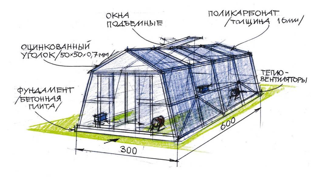 Теплицы зимние: как сделать своими руками проект и построить для круглогидичного выращивания овощей русский фермер