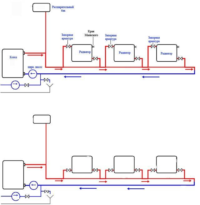 Как сделать двухтрубную систему отопления частного дома своими руками