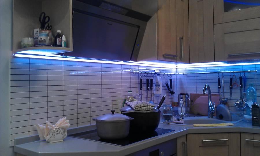 Варианты организации освещения рабочей зоны на кухне