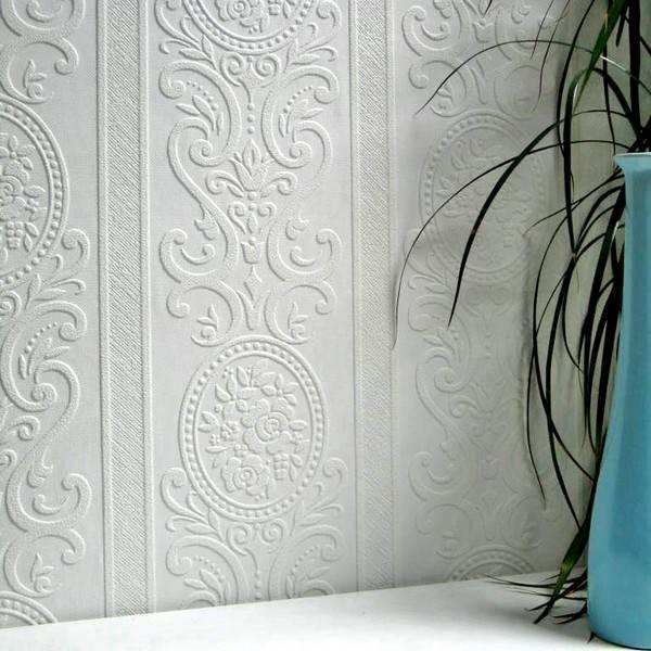Гладкие флизелиновые обои под покраску: структурные, фактурные
