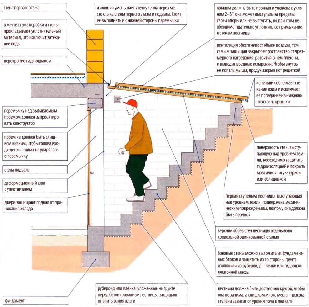 Лестница в погреб (49 фото): варианты из дерева, как сделать удобную металлическую конструкцию своими руками