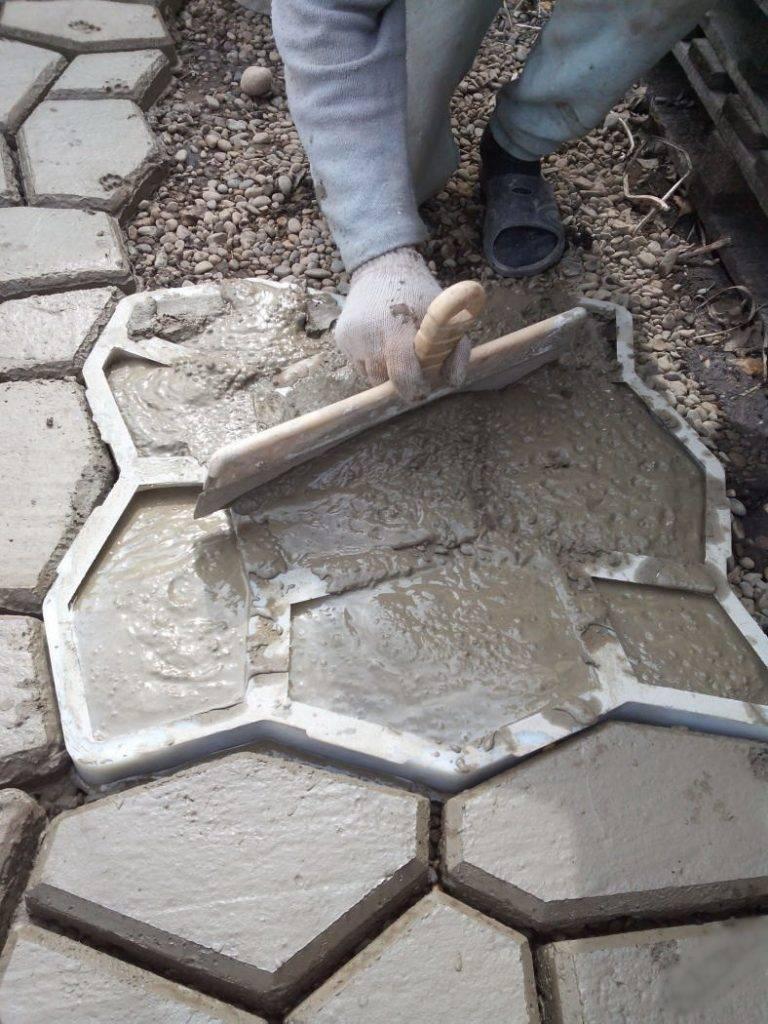 Состав раствора для тротуарной плитки своими руками