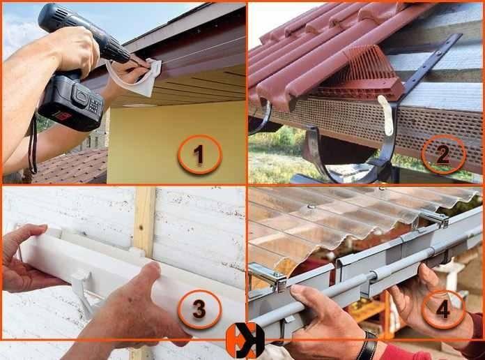 Инструкция по сборке водостока для крыши своими руками - порядок работы, чертежи, советы
