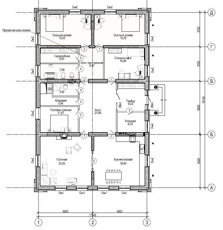 Как определить несущую стену и какой она толщины