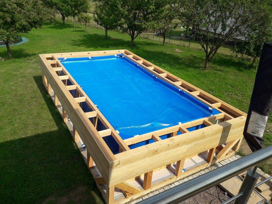 Каркасный бассейн своими руками - пошаговая инструкция с фото и видео