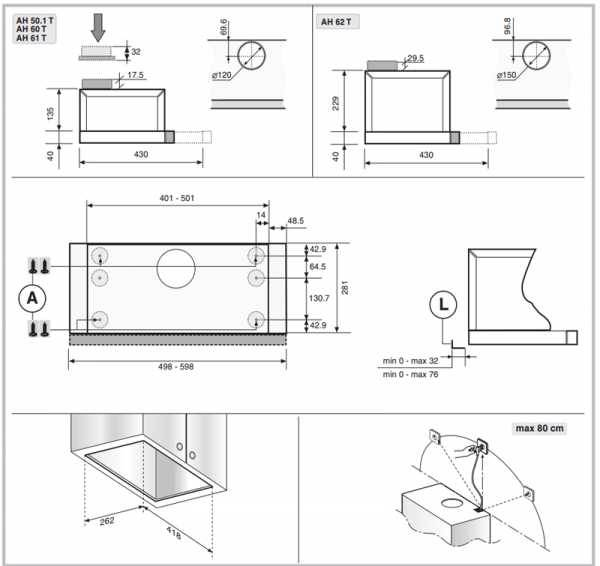 Установка встраиваемой вытяжки на кухне: особенности устройства и монтажа