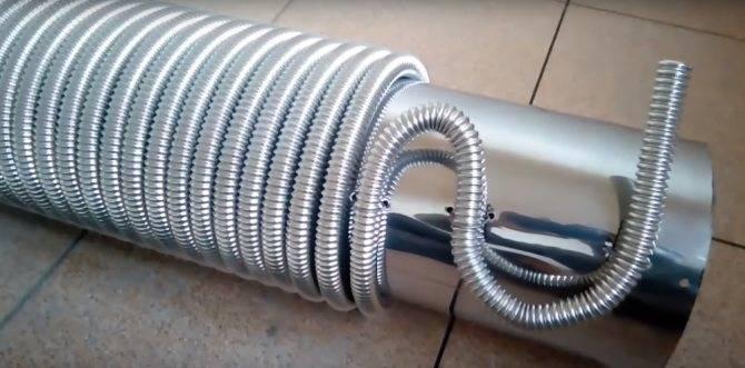 Гофрированная нержавеющая труба: характеристики, установка