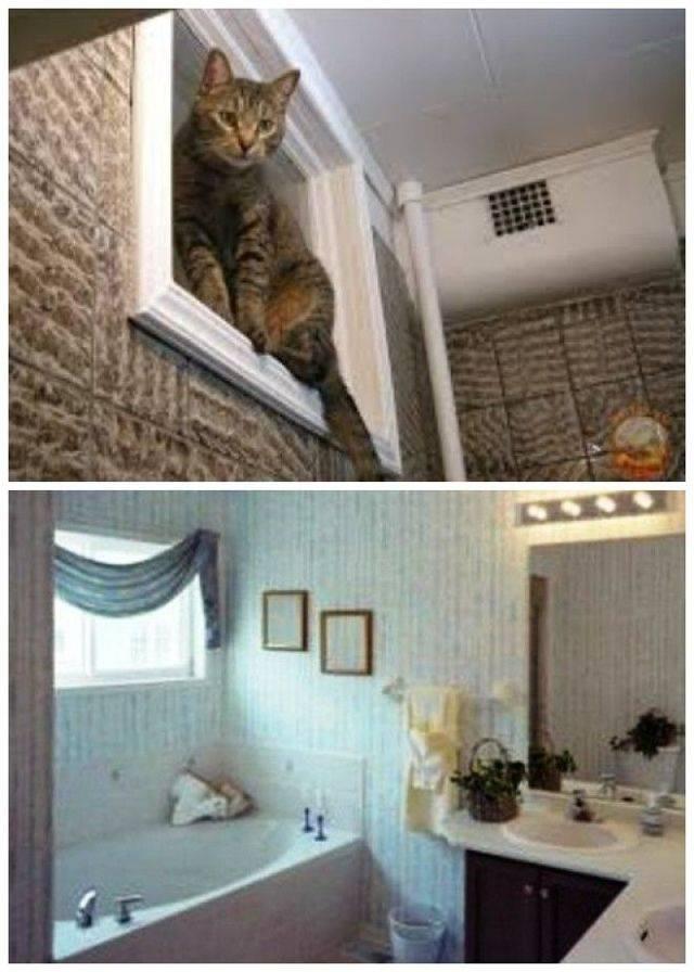 Советский тренд – окно между туалетом и кухней! Зачем оно нужно?