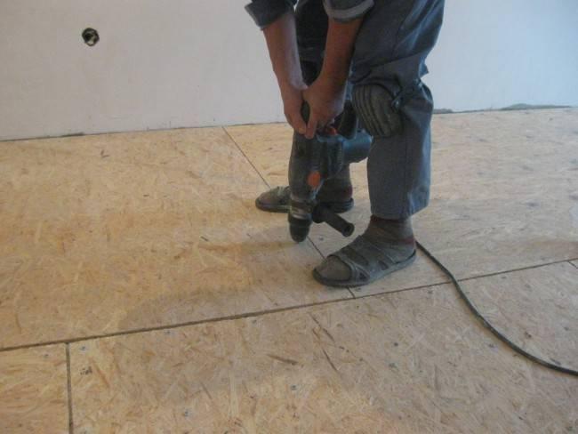 Укладка осб на деревянный и бетонный пол