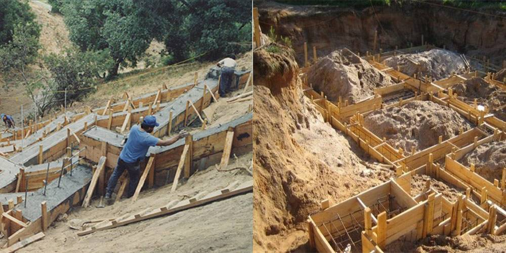 Столбчатый фундамент на склоне - всё о строительстве