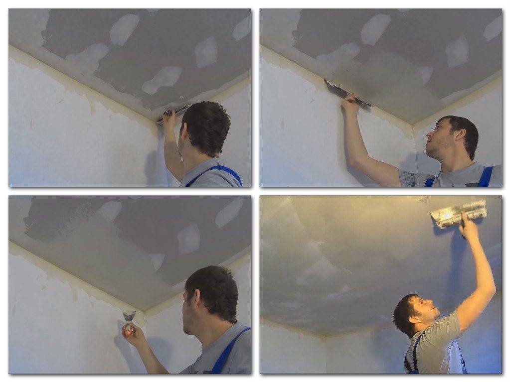 Покраска потолка из гипсокартона водоэмульсионной краской - всё о гипсокартоне