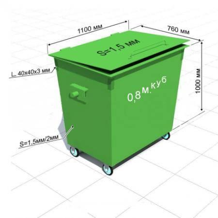Пластиковые контейнеры для мусора: с крышкой и без, производство уличных пластмассовых мусорных баков на колесах, объем и размеры