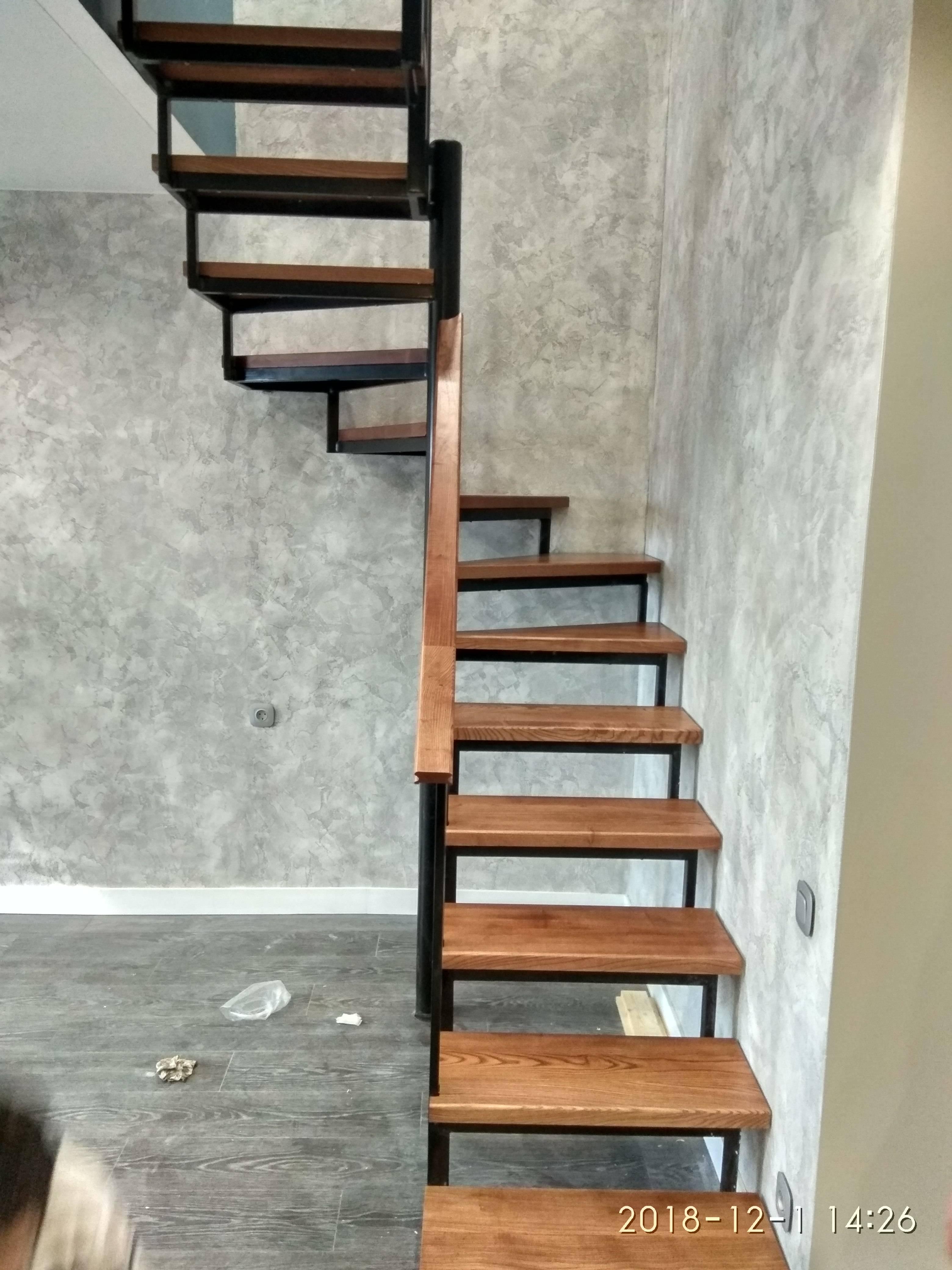 Обшивка металлической лестницы деревом - всё о лестницах