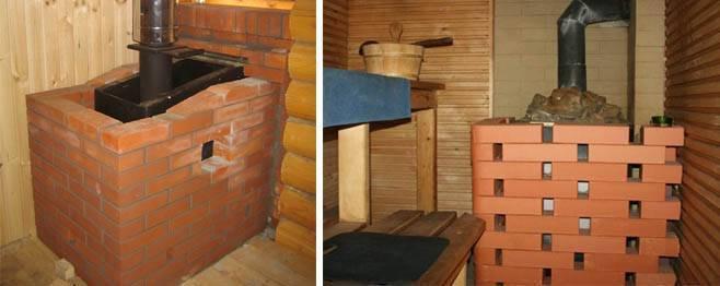 Как обложить печь в бане кирпичом: пошаговая инструкция