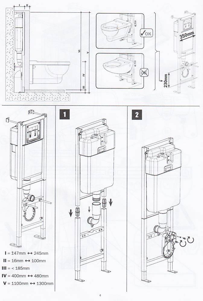 Установка инсталляции (78 фото): монтаж инсталляции унитаза, высота крепления, как установить своими руками