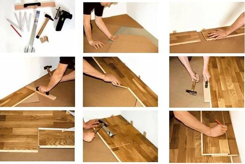 Как уложить паркетную доску на бетонный пол - инструкция