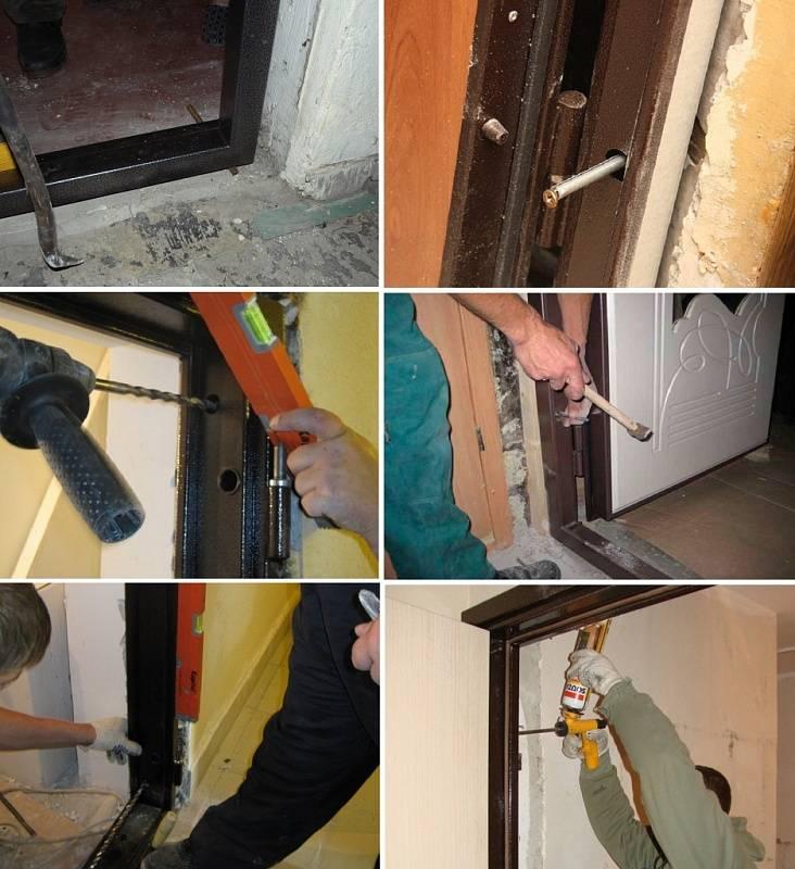 Установка входной двери своими руками: этапы работ и их особенности