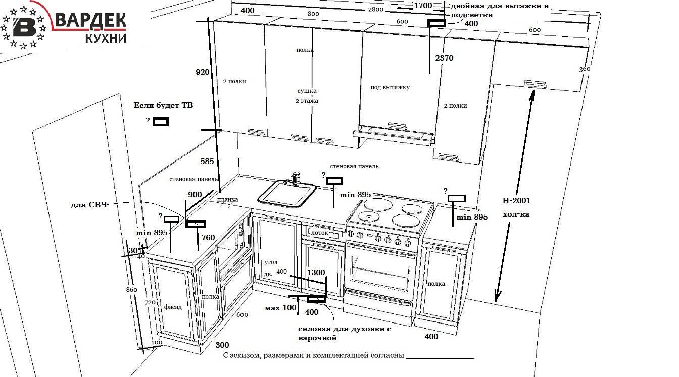 Как расположить розетки на кухне: пошаговая инструкция