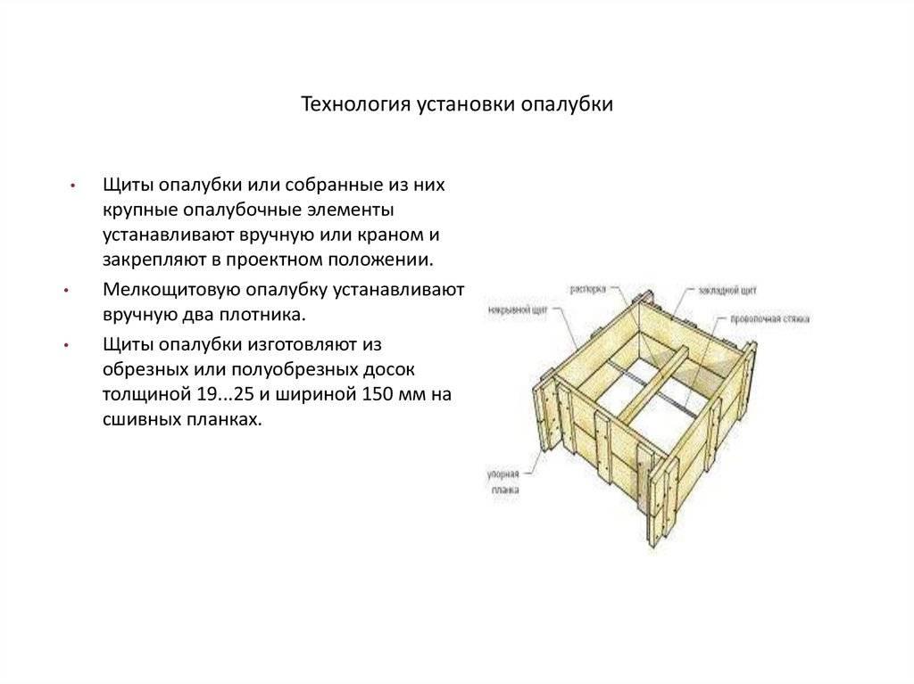 Опалубка стен - виды и характеристики