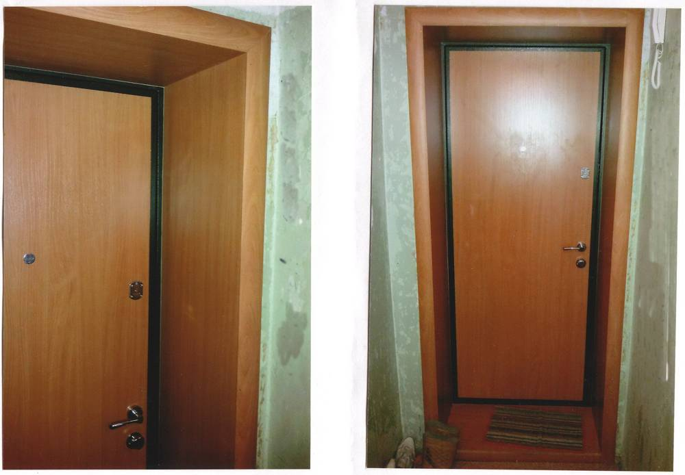Как обшить откосы входной двери